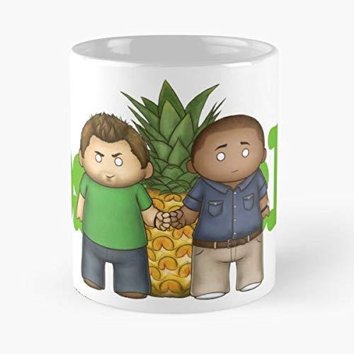 Amazon Com  Psych Shawn Spencer Burton Guster Coffee Mugs Unique