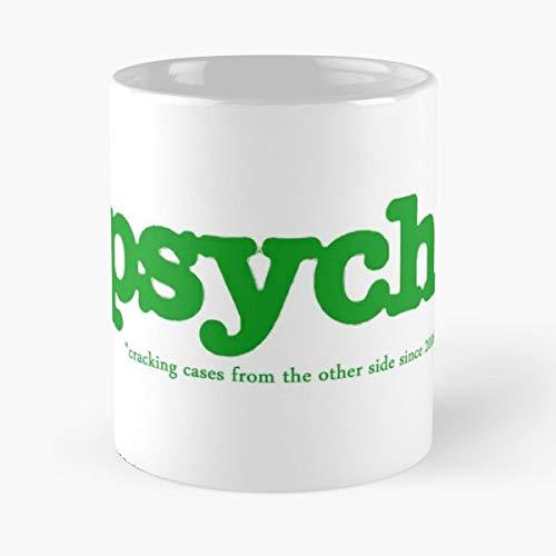 Amazon Com  Psych Shawn Spencer Gus Coffee Mugs Unique Ceramic