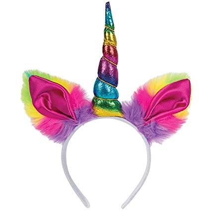Amazon Com  Rhode Island Novelty Shiny Rainbow Unicorn Horn Party