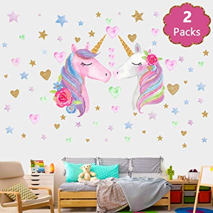 Amazon Com  Song's Idea Large Size Unicorn Wall Decal,2packs