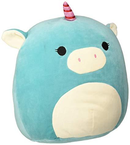 Amazon Com  Squishmallow Kellytoy 13  Blue Unicorn Super Soft
