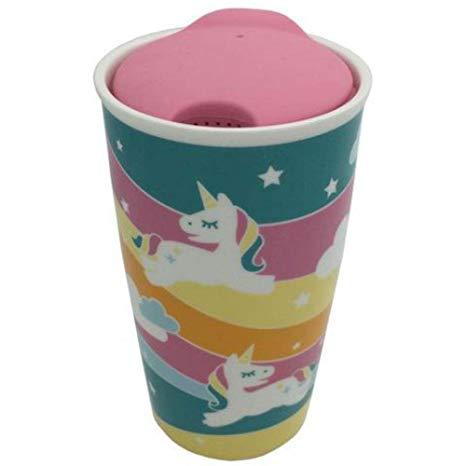 Amazon Com  Streamline Rainbow Unicorn Ceramic Travel Mug With Lid