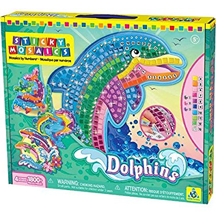 Amazon Com  The Orb Factory Limited Sticky Mosaics Dolphins  Toys