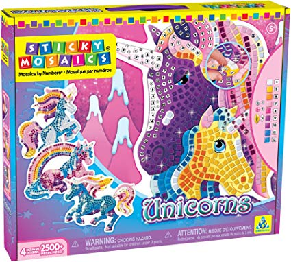 Amazon Com  The Orb Factory Sticky Mosaics Unicorns  Toys & Games