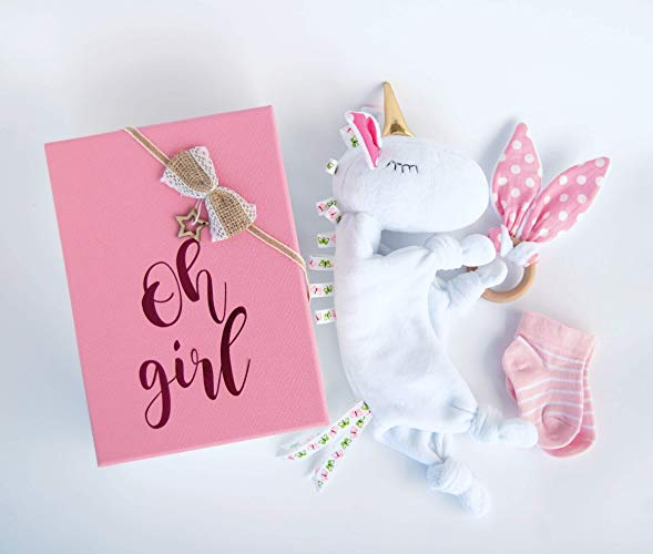 Amazon Com  Unicorn Baby Gift Basket Blanket With Name