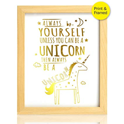 Amazon Com  Unicorn Inspirational Quotes Framed Art Prints (real