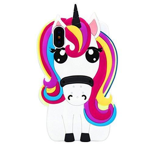 Amazon Com  Unicorn Iphone X Case, Awsaccy(tm) Kawaii Cute Cool 3d