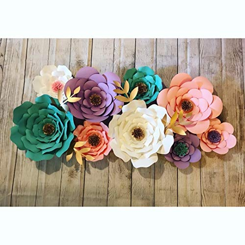Amazon Com  Unicorn Theme Paper Flowers  Handmade