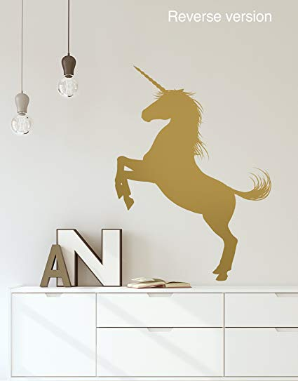 Amazon Com  Unicorn Wall Decal Sticker  Gold Color, Large 72in