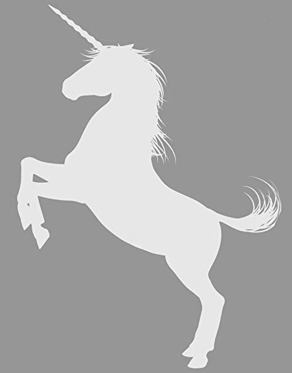 Amazon Com  Unicorn Wall Decal Sticker  White Color, Large 45in