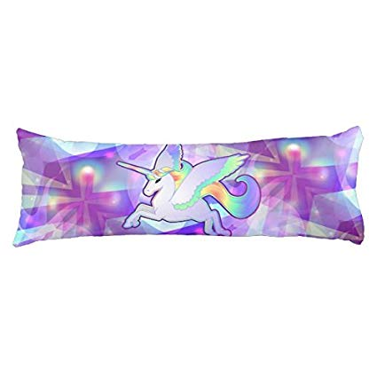 Amazon Com  Uoopoo Rainbow Unicorn Polyester Body Pillow Cover