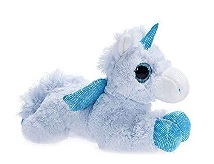 Amazon Com  Wildream Blue Unicorn Sparkle Big Eyes 11 Inches