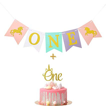 Amazon Com  Wulagogo Unicorn Smash Cake Kit First Birthday One