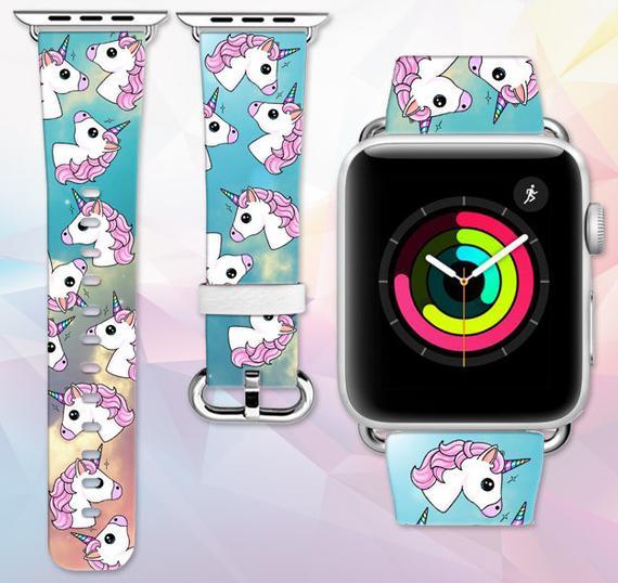 Apple Watch Band Unicorn Emoji Genuine Leather Apple Watch
