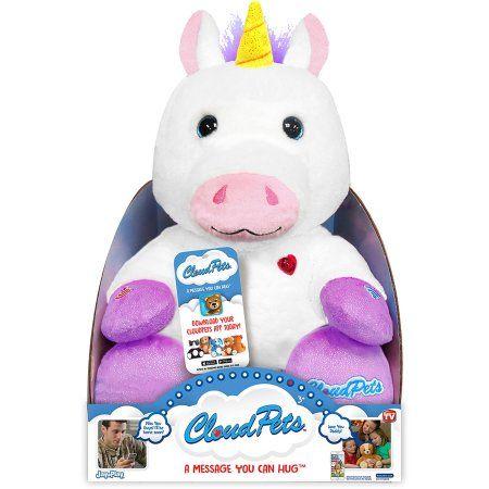 As Seen On Tv Cloud Pets 12 Inch Unicorn, White