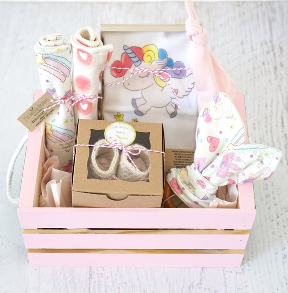 Baby Girl Gift Basket Unicorn Baby Clothes Personalized