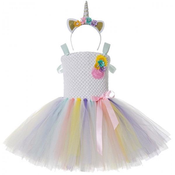 Baby Girl Pageant Tutu Dress Pony Unicorn Dress Headband Christmas