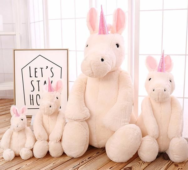 Big Fluffy Unicorn Soft Plush Toy