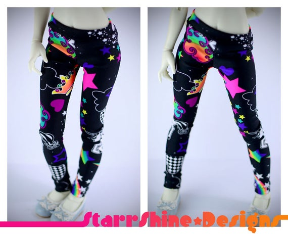 Bjd Msd 1 4 Doll Clothing Unicorn Universe Leggings