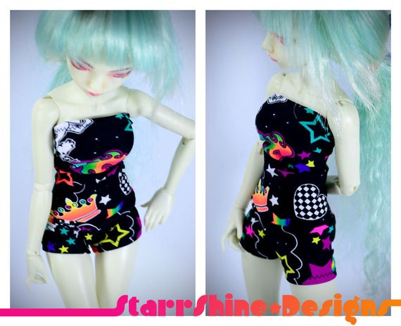 Bjd Msd 1 4 Doll Clothing Unicorn Universe Print Tube Top