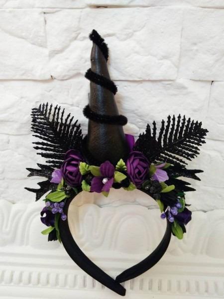 Black Unicorn Horn Headpiece Halloween Unicorn Costume Adults
