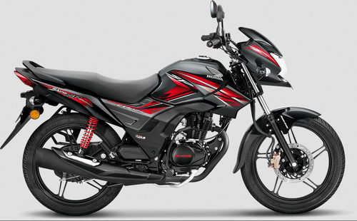 Black With Red Graphics Honda New Cb 125 Shine Sp Motorcycle