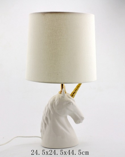 Buy White Ceramic Unicorn Table Lamp,white Ceramic Unicorn Table