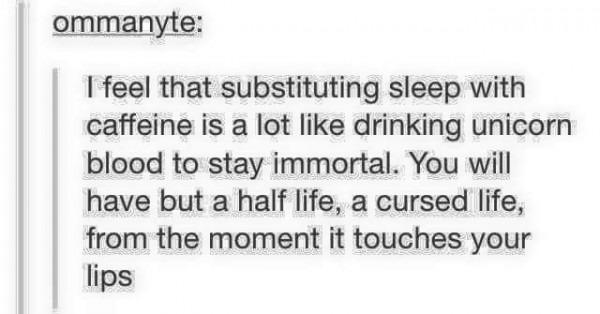 Caffeine = Unicorn Blood