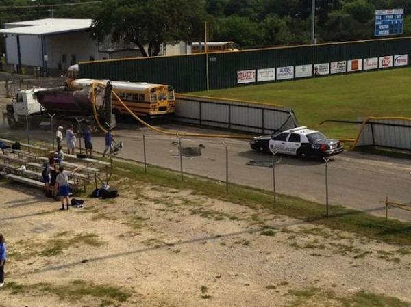Cement Truck Crashes New Braunfels Texas Baseball Practice … Literally