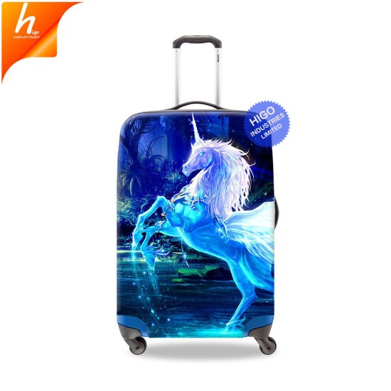 China Supplier Cool Travel Accessories Unicorn Luggage Cover