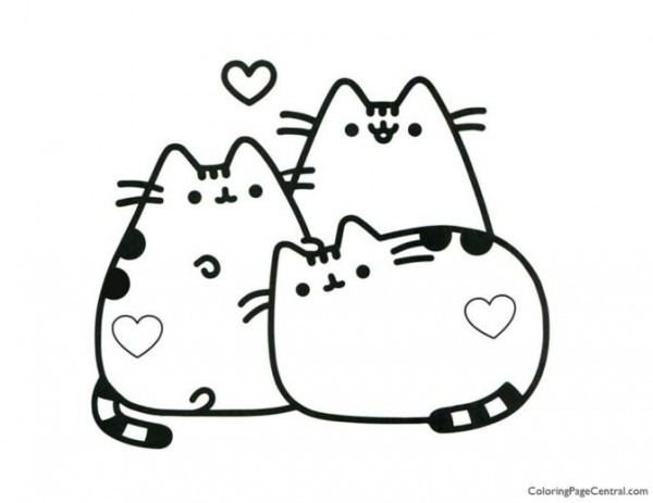 - Unicorn Pusheen Coloring Page