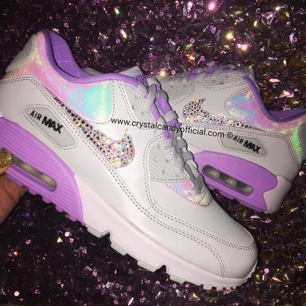 Crystal Nike Air Max 90's In Unicorn Holographic In 2019