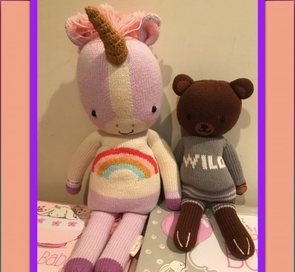 Cuddle And Kind Unicorn And Bear Stuffed Animals For Babies