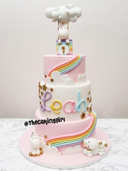 Cute 3 Tier Unicorn Cake
