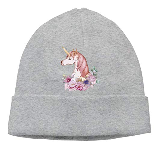 Cute Unicorn Unisex Knitted Hat