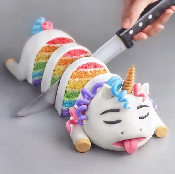 Dead Unicorn Cake
