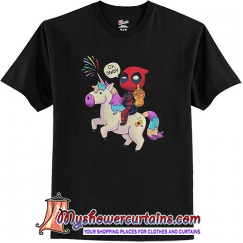 Deadpool Unicorn Infinity Oh Snap Shirt