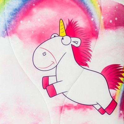 Despicable Me Fluffy Unicorn Twin Microfiber Comforter In 2019