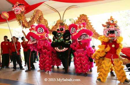 Dragon, Unicorn And Lion Dance Festival Of Sabah, Malaysia