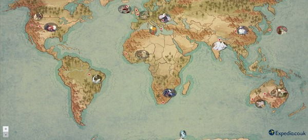 Expedia's Interactive Map Reveals Mythical Creatures