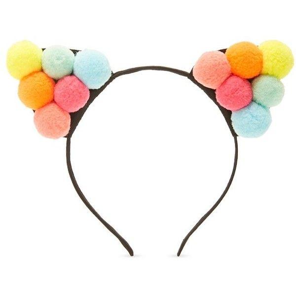 Forever21 Pom Pom Cat Ear Headband ($4 13) ❤ Liked On Polyvore