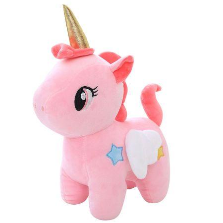 Free Dropshipping 25cm Blue Pink Big Eye Unicorn Stuffed Animal