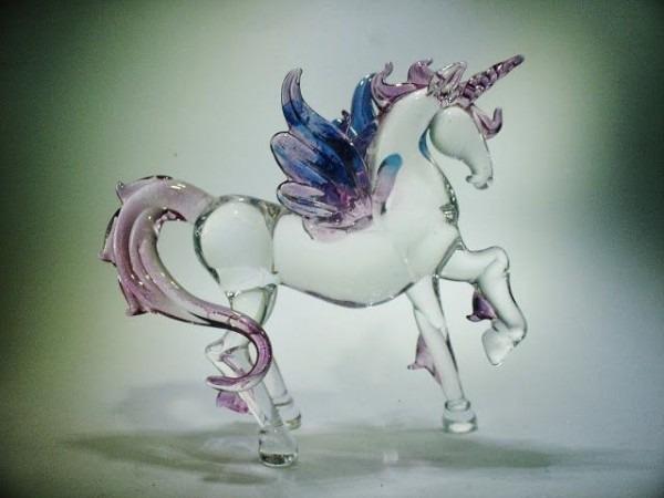 Glass Flying Unicorn