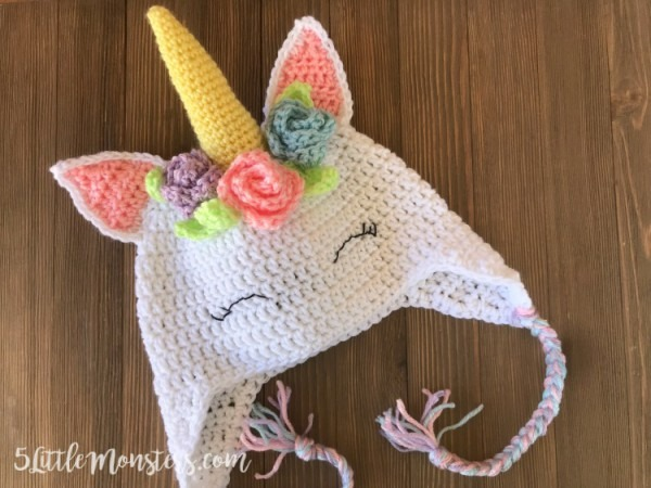 Hat Patterns Crochet Kids Unicorn