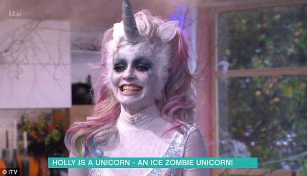 Holly Willoughby Is An 'ice Zombie Unicorn' For Halloween