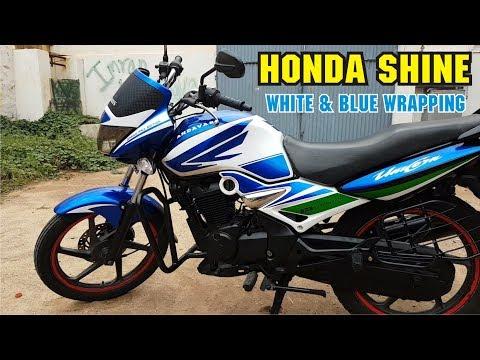 Honda Unicorn Wrapping Sticker Alteration White & Blue