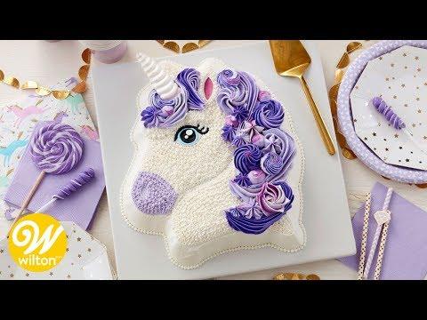 How To Make A Purple Buttercream Unicorn Birthday Cake