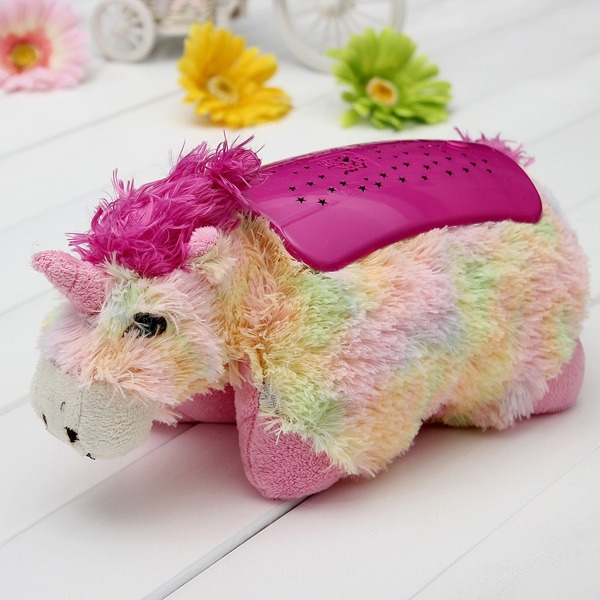 Jolami Unicorn Dream Lites Bolster With Night Lights