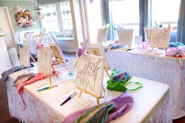 Kara's Party Ideas Magical Unicorn Art Birthday Party