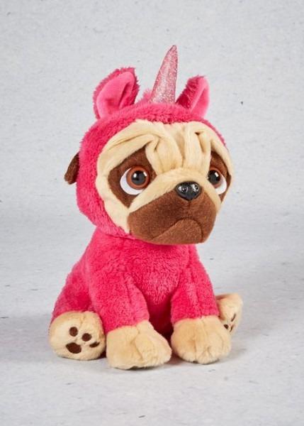 Keel Toys Unicorn Pug (26cm) – Pink